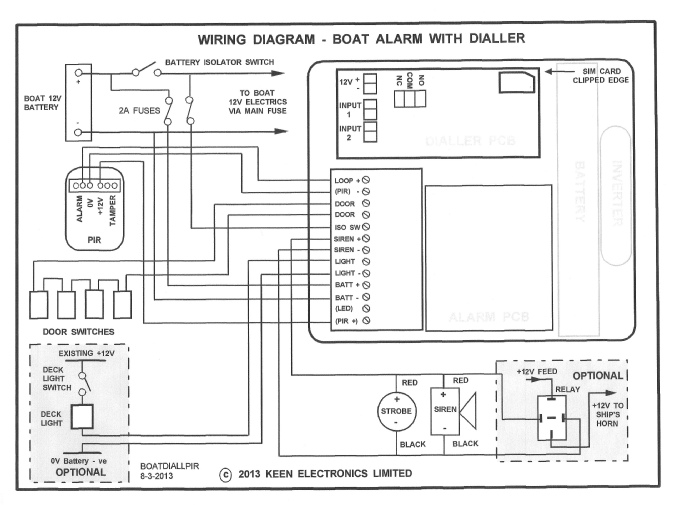 Boat Alarm With Dialler Installation Instructions
